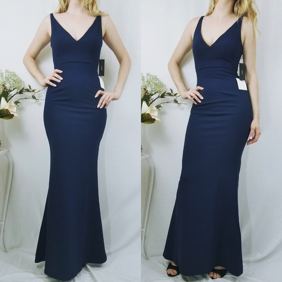 356bac6df415d Melora Navy Blue Sleeveless Maxi Lulu s Dress NWT